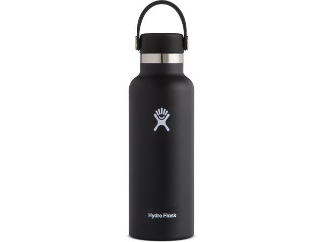 Hydro Flask Standard Mouth Drinkfles met standaard Flex Cap 532ml, black